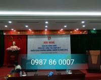 Thiết kế lắp đặt hội trường 55 Quang Trung
